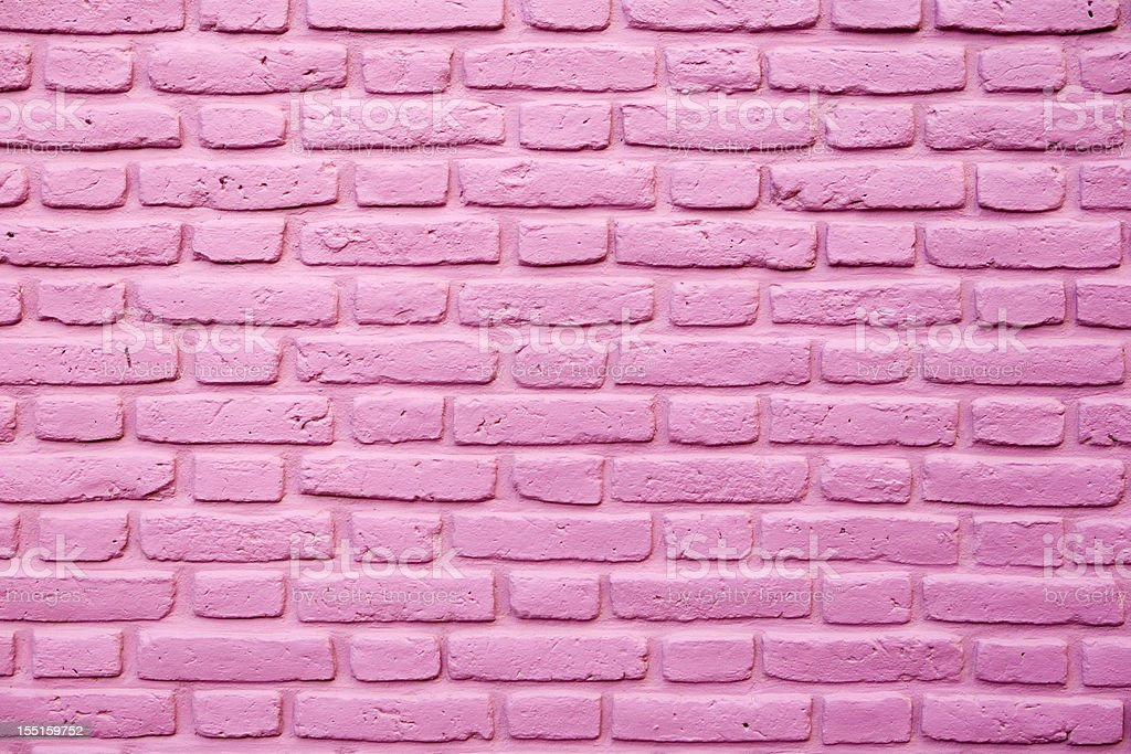 Pink brick wall texture stock photo