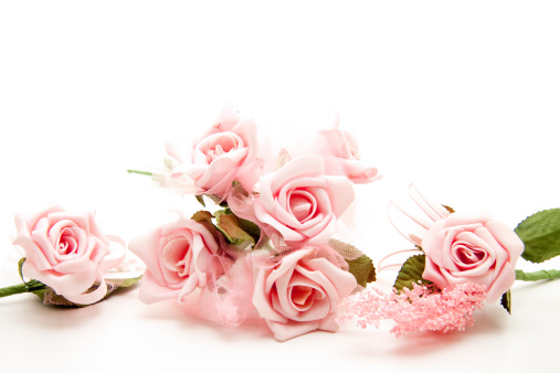 Pink Bunch Of Roses Stock Photo - Download Image Now