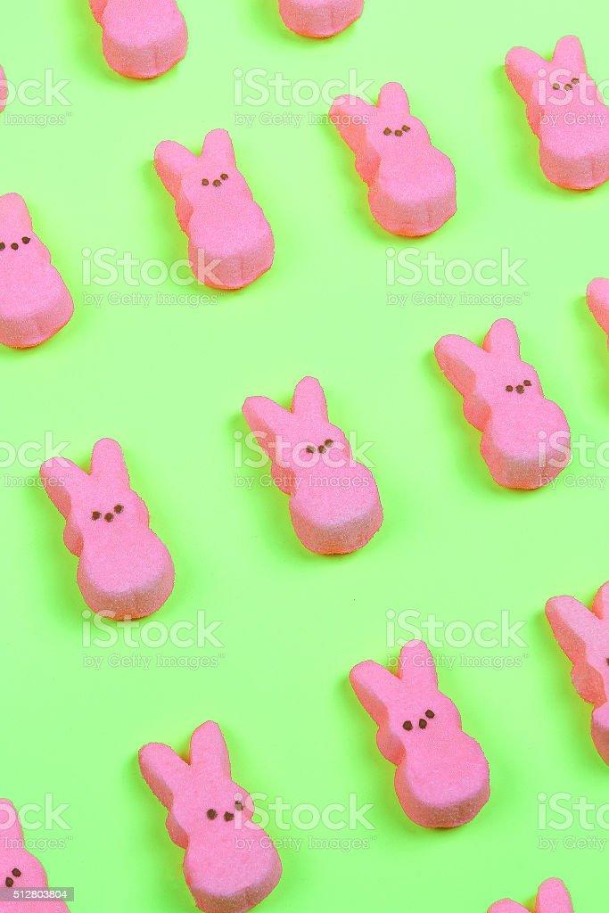 Pink Bunny Pattern stock photo