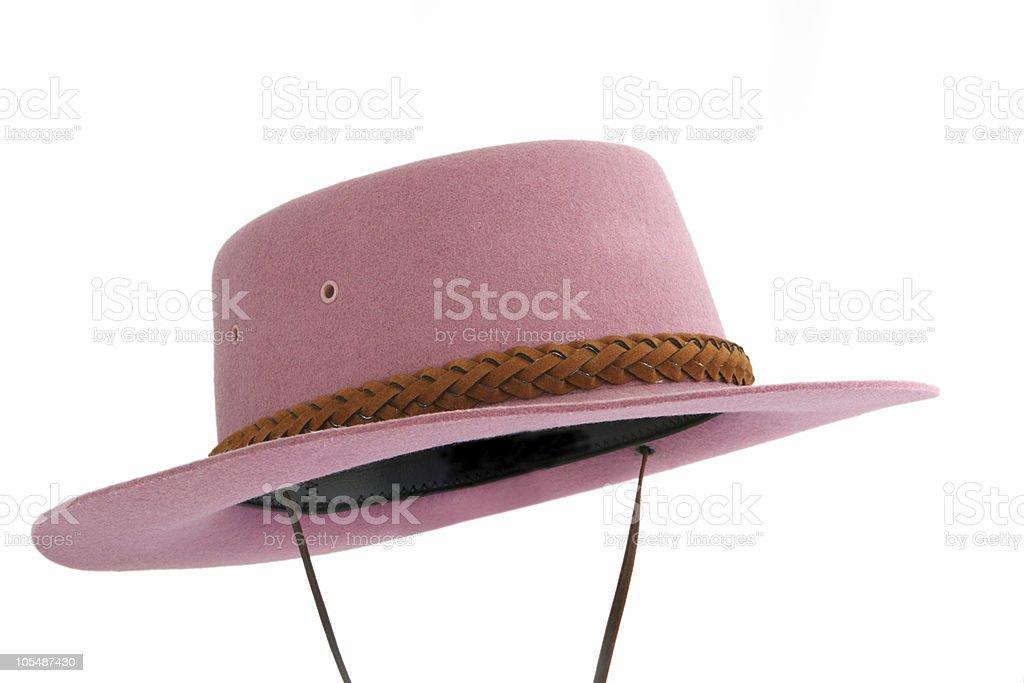 Pink Bush Hat stock photo