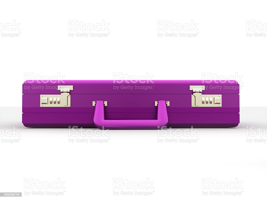 Pink business case on white stock photo