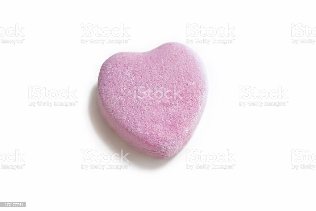 Pink Candy Heart royalty-free stock photo