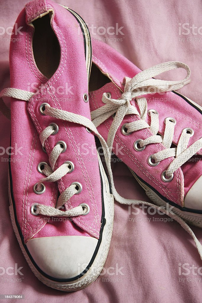 Pink Canvas Shoes stock photo