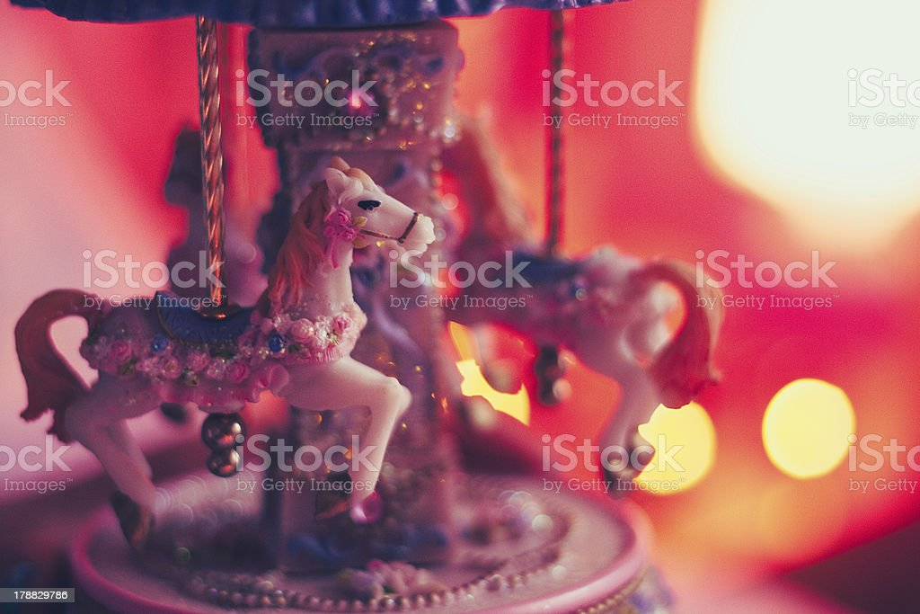 Pink Carousel With Little Horses Stock Photo Download Image Now Istock