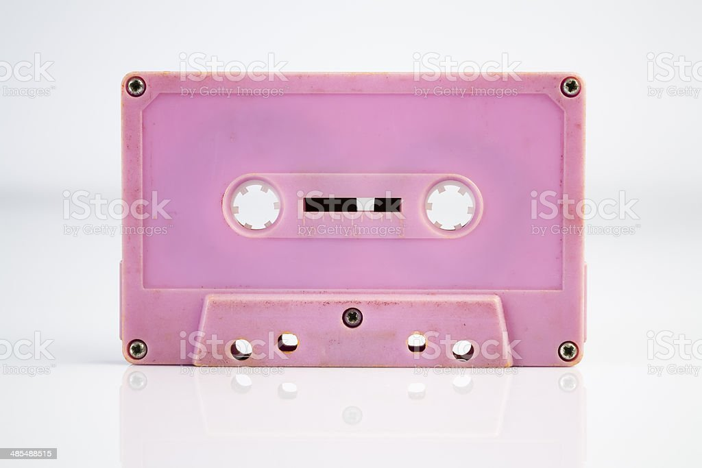 Pink Cassette Tape stock photo