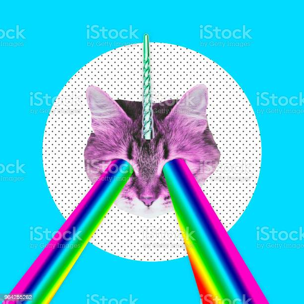 Pink cat with a unicorn horn emits a rainbow laser from eyes picture id964255262?b=1&k=6&m=964255262&s=612x612&h=fjp5ylnkbxl4ey0 c sgf8p9jsti8mey4uxaznrh7ca=