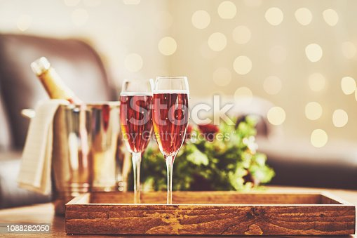 Pink champagne for Valentine's Day or special occasion