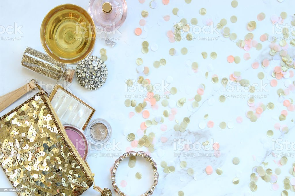 Pink champagne party stock photo