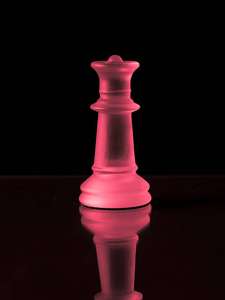 Pink Chess Queen stock photo