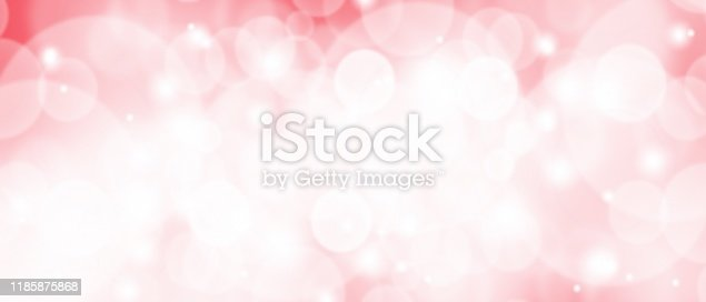 530427918 istock photo Pink Christmas abstract texture background with snowflakes winter and bokeh lights. blurred beautiful shiny Christmas new year, use wallpaper backdrop and your product. 1185875868