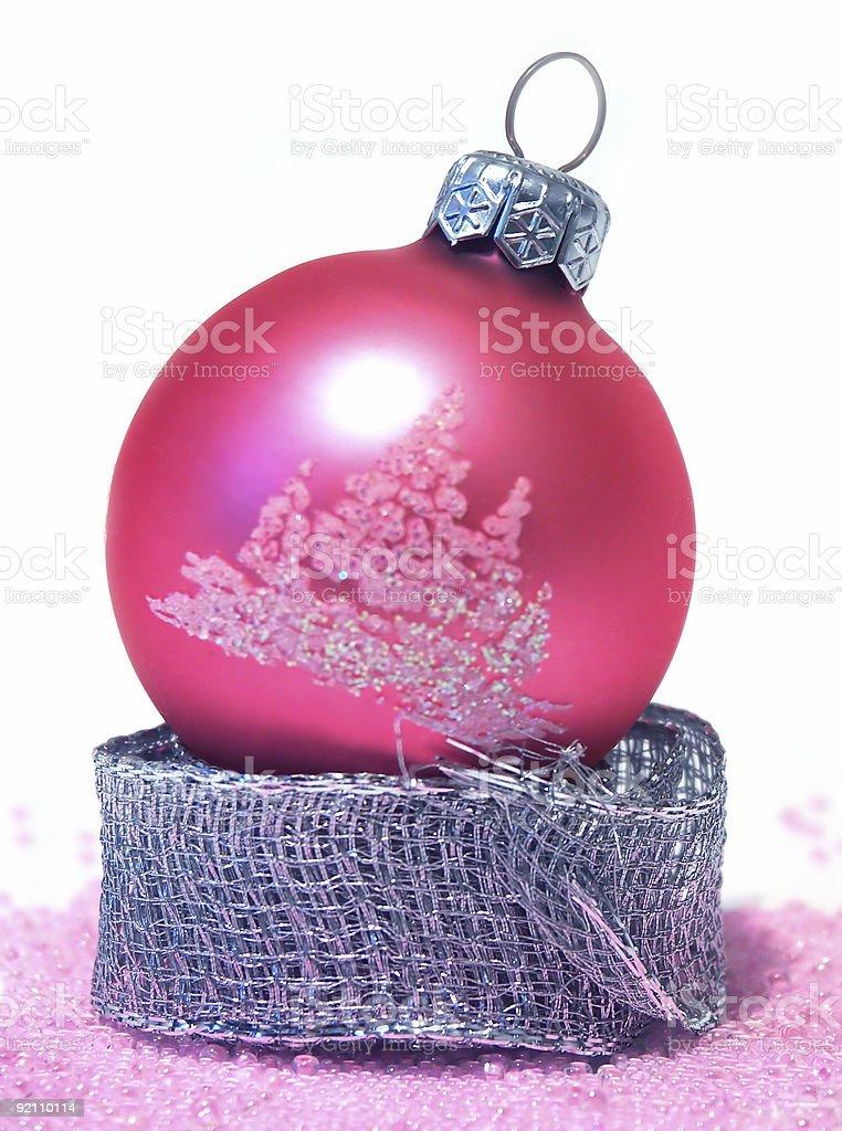 pink christmas ball stock photo