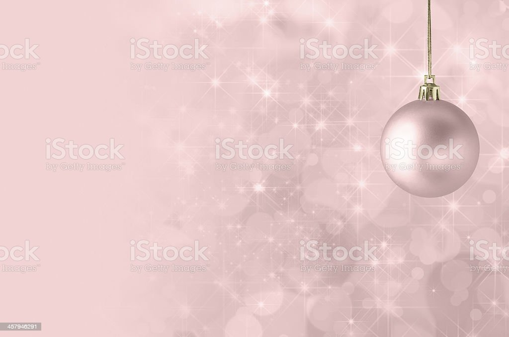 Pink Christmas Bauble Background stock photo