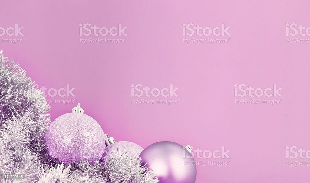 Pink Christmas Baubles royalty-free stock photo