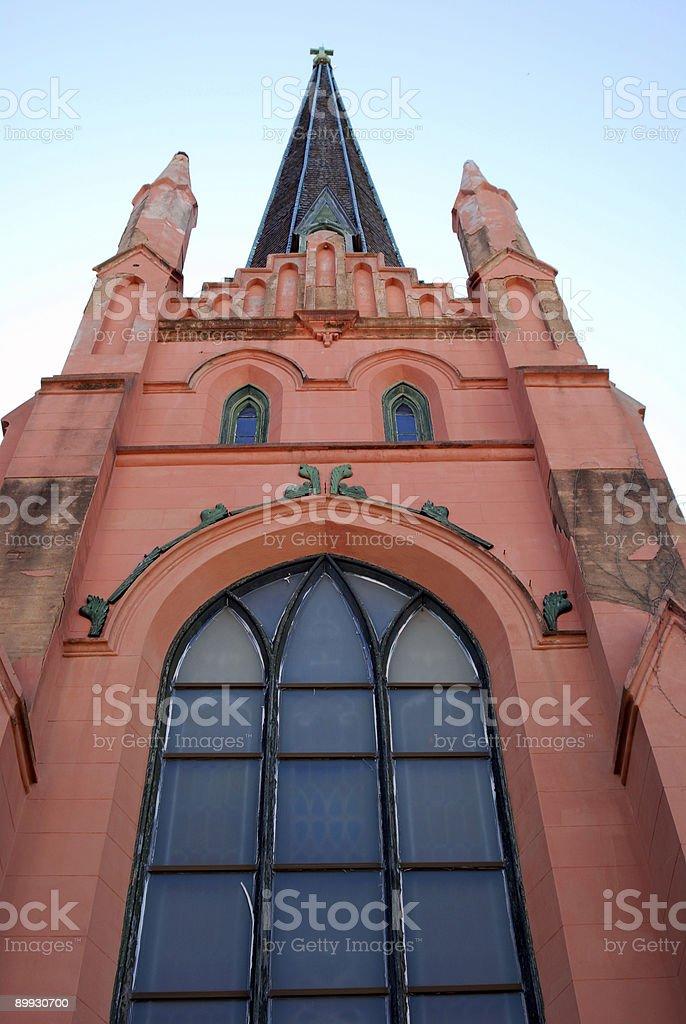 Pink Church royalty-free stock photo