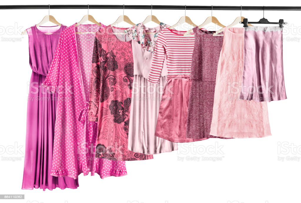 Pink clothes isolated stock photo