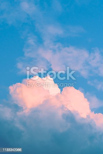646012098istockphoto Pink Cloud with blue sky 1133342066
