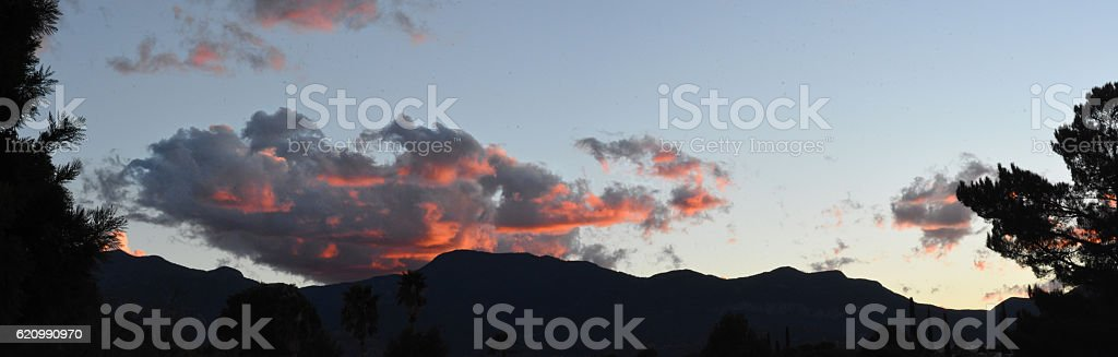 Pink Clouds at Dawn stock photo