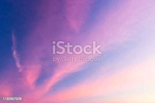 646012098istockphoto Pink clouds on dramatic sky with copy space 1132907029