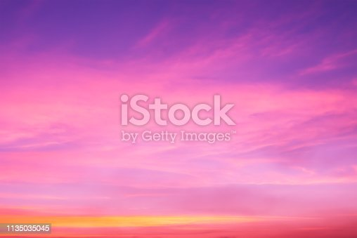 646012098istockphoto Pink clouds on dramatic sky with copy space 1135035045