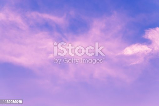646012098istockphoto Pink clouds on dramatic sky with copy space 1135035048