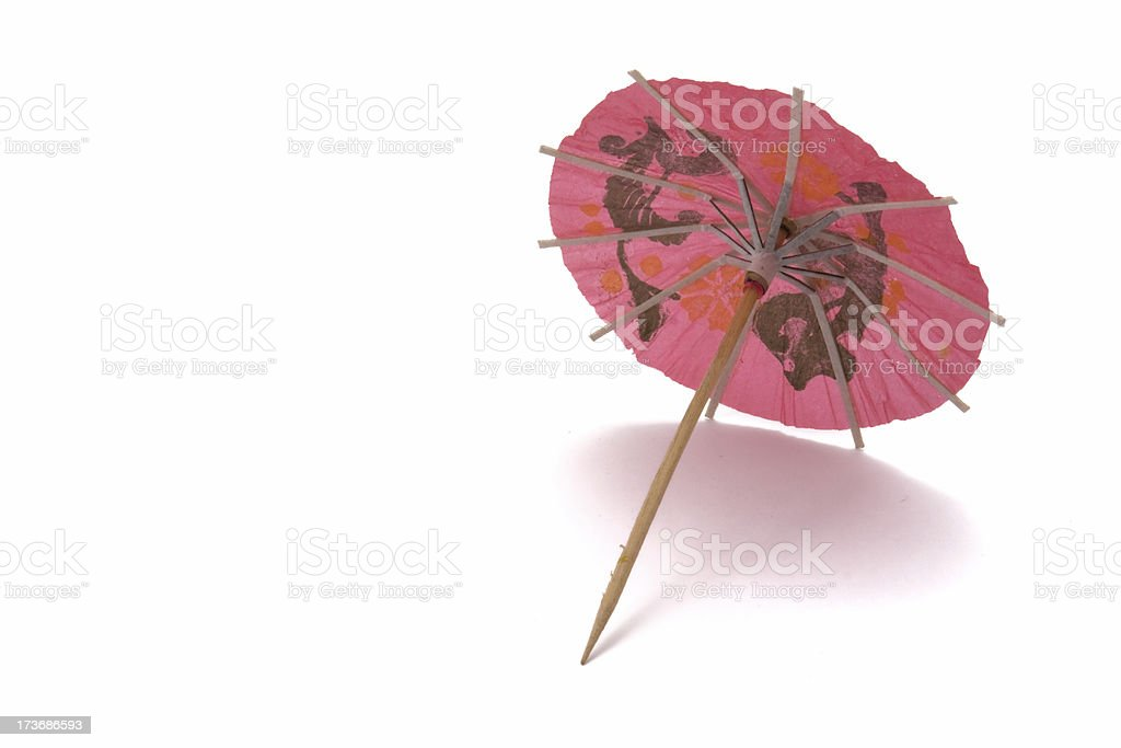 Pink Cocktail Umbrella royalty-free stock photo