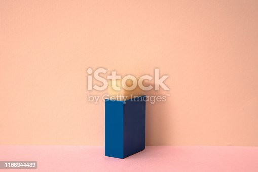 171366630 istock photo Pink color background and square eraser. 1166944439
