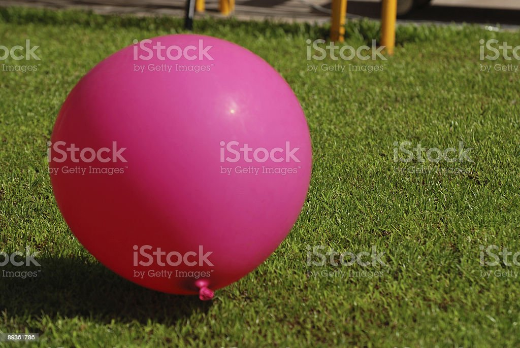pink color balloon royalty free stockfoto