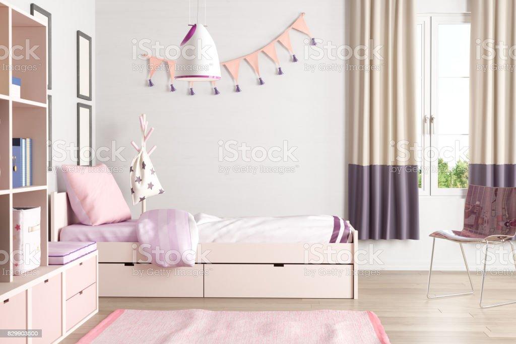 Rosa farbigen jugendlich Schlafzimmer – Foto