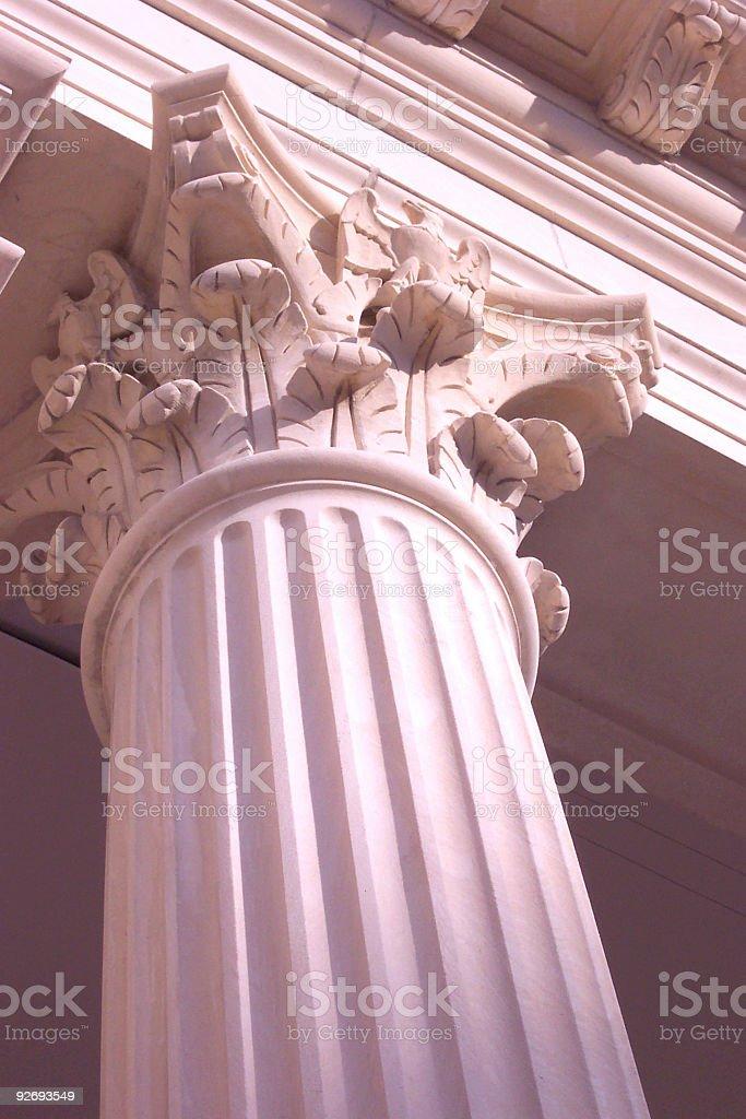 Pink Column 1 royalty-free stock photo