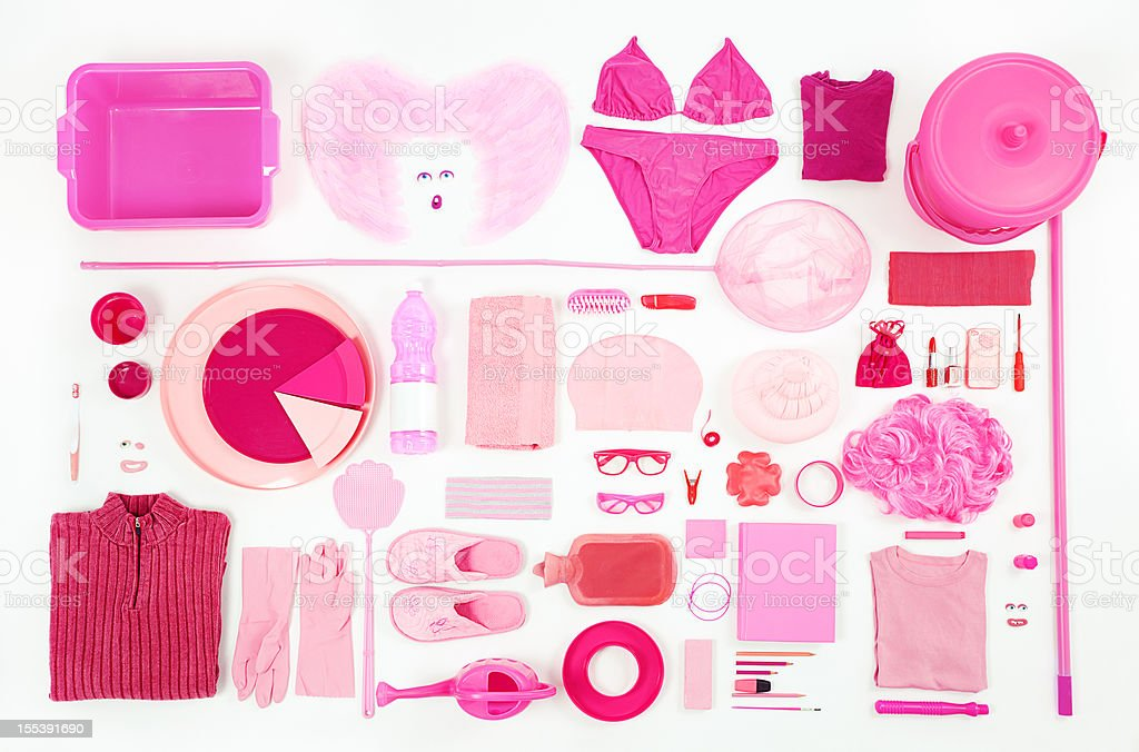 Pink composition royalty-free stock photo