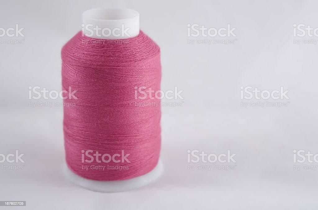 Pink cotton spool royalty-free stock photo