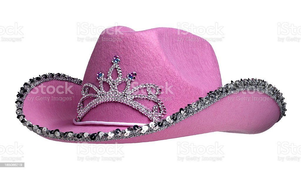 Pink Cowboy Hat on White royalty-free stock photo
