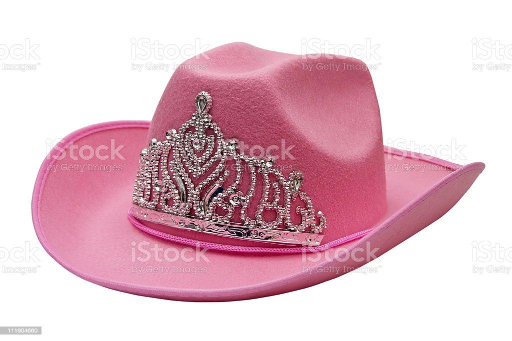 pink cowboy hat royalty-free stock photo