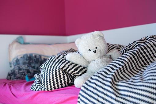 Pink cozy bedroom