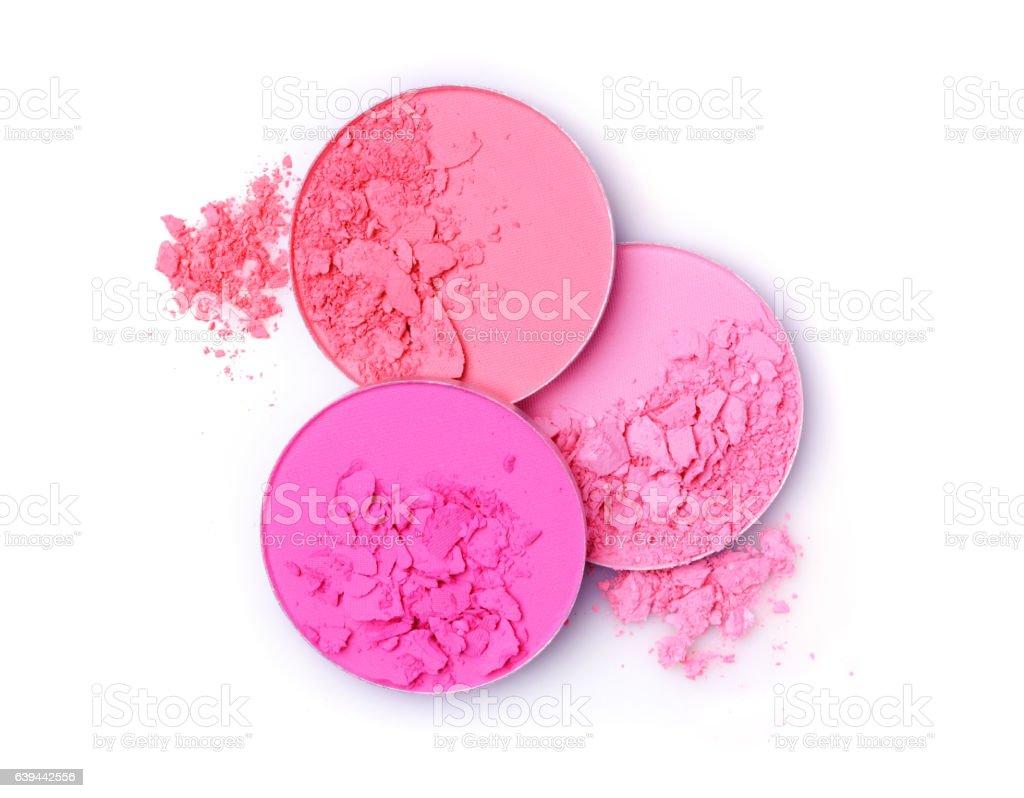 Pink crashed blush for make up stock photo