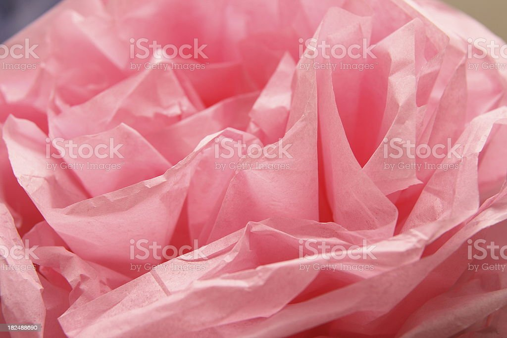 Pink Crepe Paper Flower stock photo