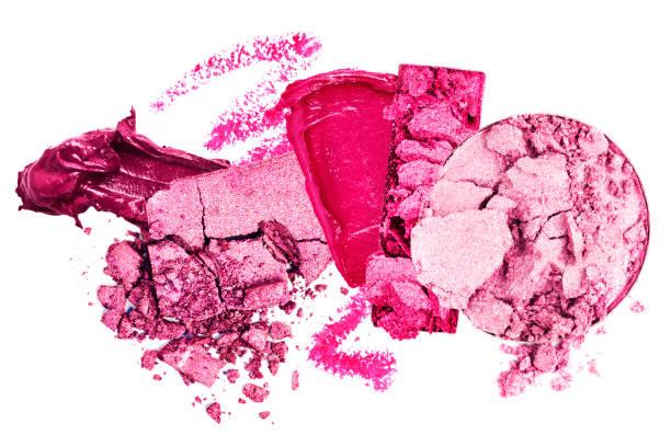 Rosa zerkleinert und Make-up verschmiert – Foto