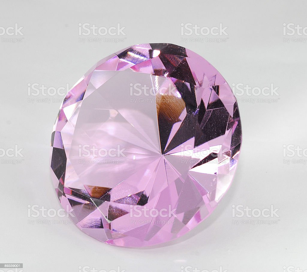 pink crystal stock photo