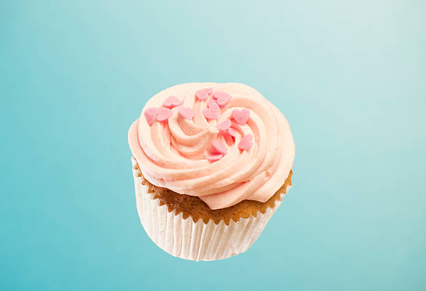 pink cupcake - cake stock pictures, royalty-free photos & images