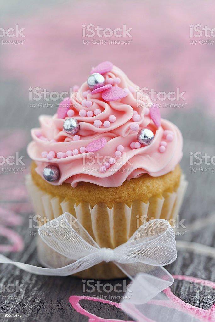 Pink cupcake royalty-free stock photo