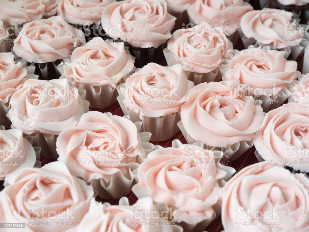 Pink Cupcakes Decorated are Homemade CreativeContentBrief Pink stock photo