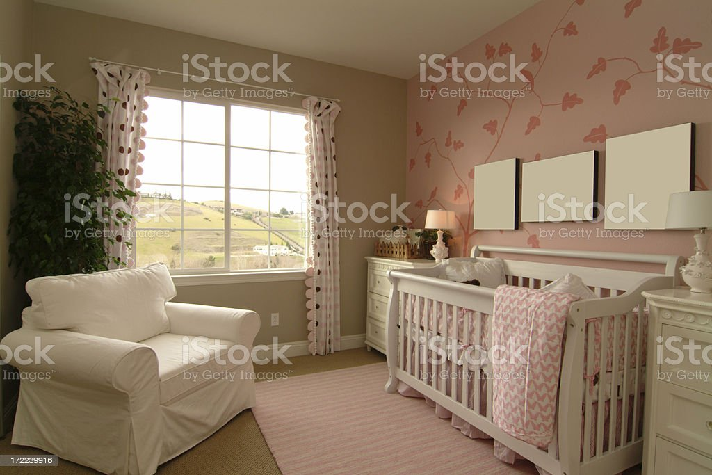 Pink Cute Baby Room royalty-free stock photo