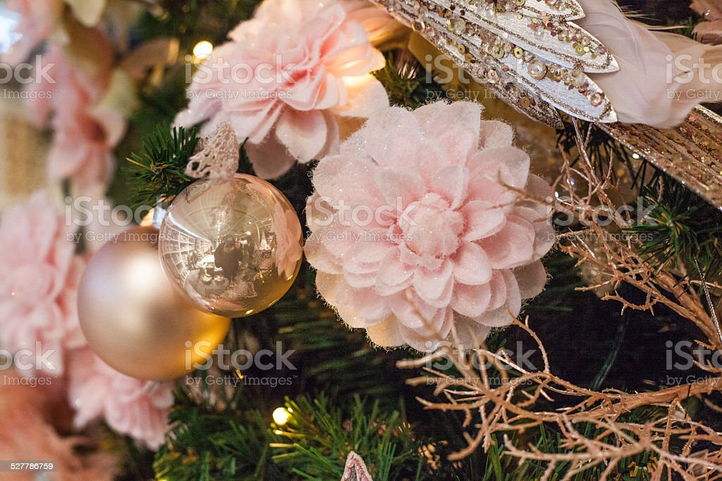 pink decoration christmas stock photo