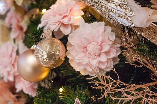 pink decoration christmas stock photo