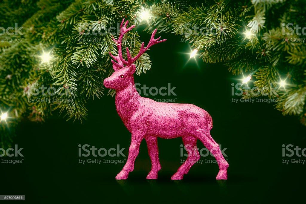 pink deer stock photo