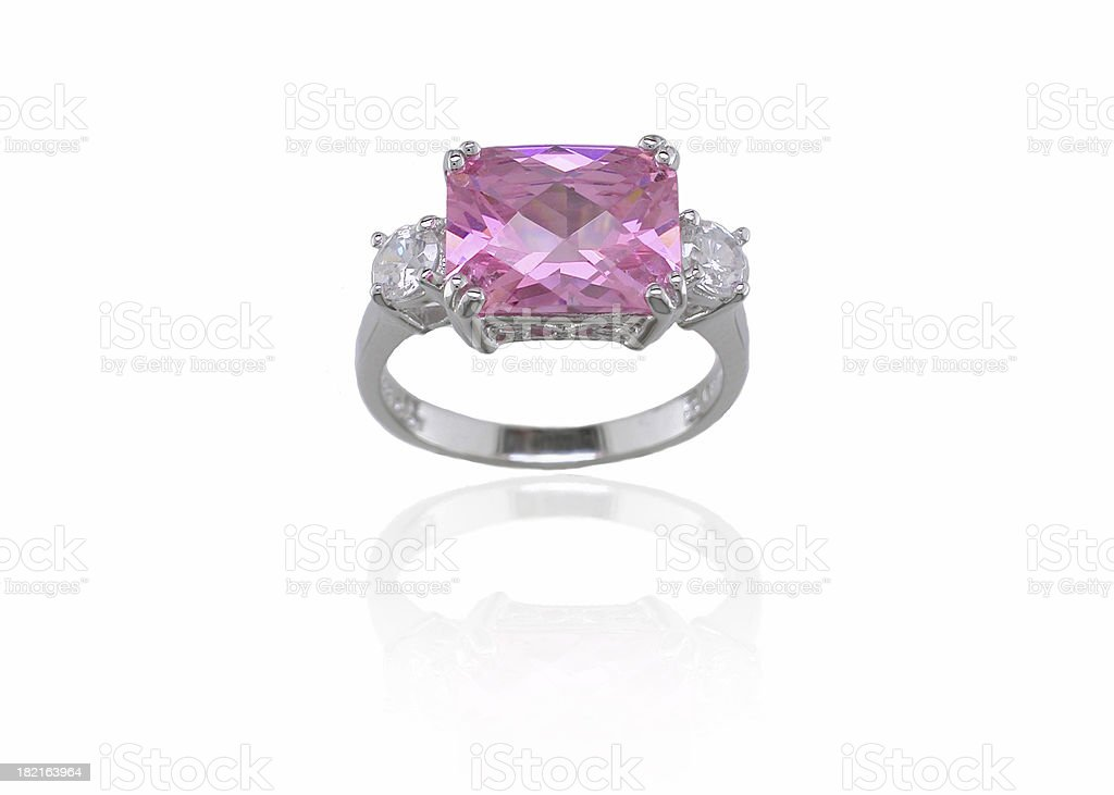 Pink Diamond Ring royalty-free stock photo