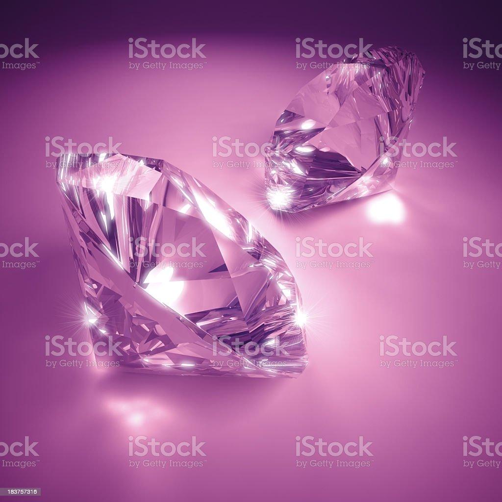 Pink Diamonds royalty-free stock photo