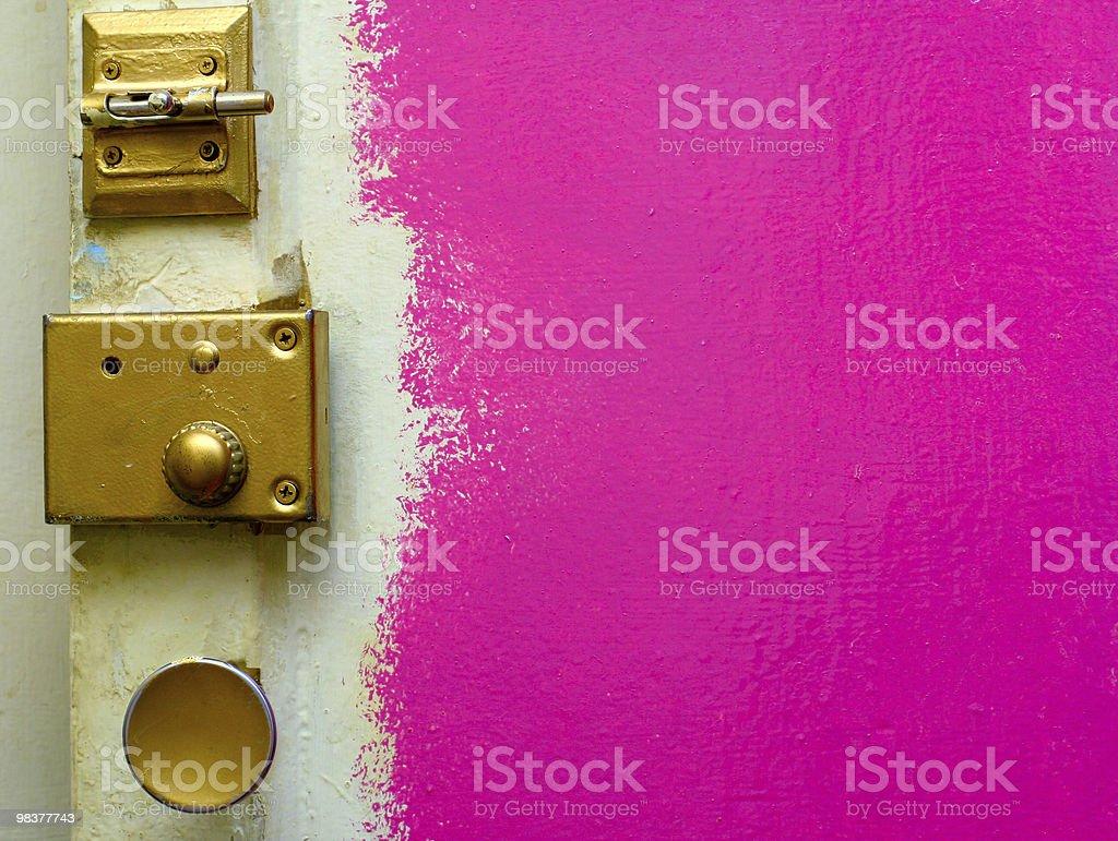 pink door royalty-free stock photo