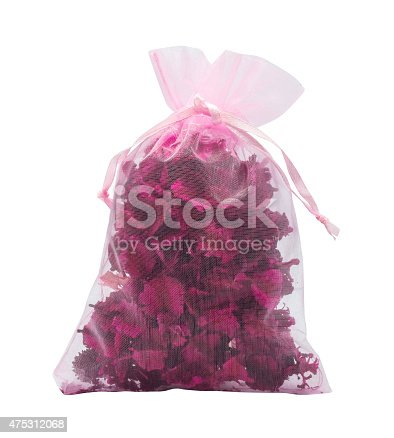 istock pink dried flowers in small cute bage 475312068