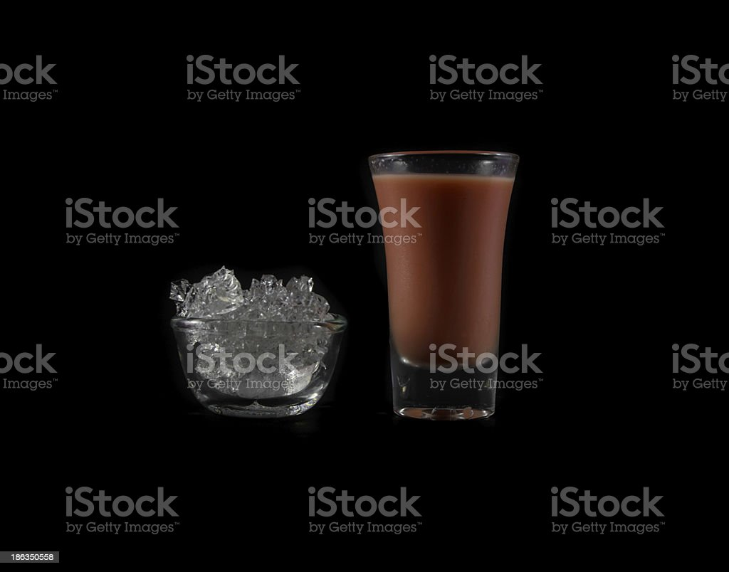 pink drink in glass royalty-free stock photo